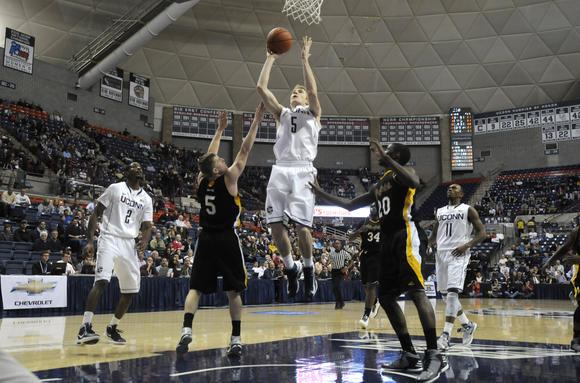 UConn Men's Exhibition Game Against AIC