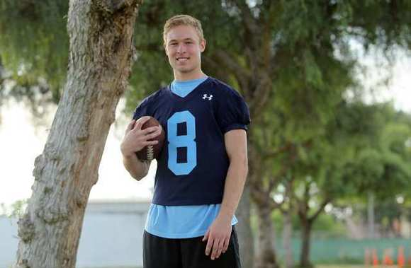 Corona del Mar High senior Troy Reese caught seven passes for 188 yards and two TDs in CdM's 33-16 win over Beckman that clinched the outright Pacific Coast League title.