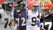 Ravens OTs Michael Oher and Kelechi Osemele vs. Browns DEs Frostee Rucker and Jabaal Sheard