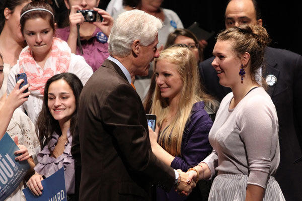 Former President Bill Clinton spoke at a campaign event for President Barack Obama Friday morning at Palm Beach State College in Lake Worth.