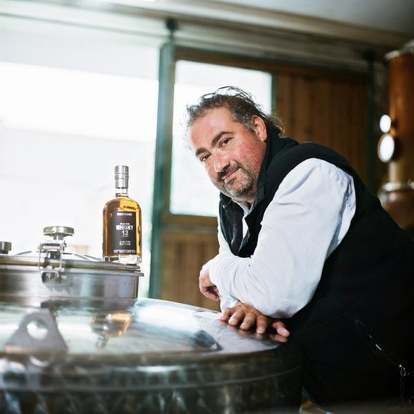 Austrian master distiller, Hans Reisetbauer makes brandies and whiskey.