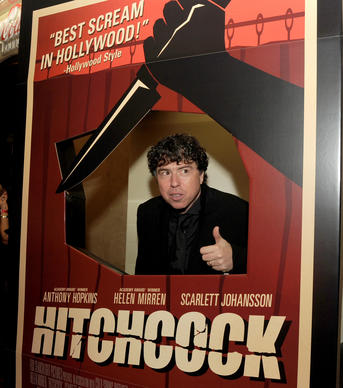 """Hitchcock"" director Sacha Gervasi attends the premiere of his film, which is about the iconic director's relationship with his wife (played by Helen Mirren) during the making of ""Psycho."""