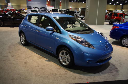 One of a handful of electric cars on the market, the Nissan Leaf