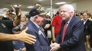 Former Republican presidential candidate John McCain will campaign in Roanoke County and Lynchburg on Saturday on behalf of current presidential candidate Mitt Romney.