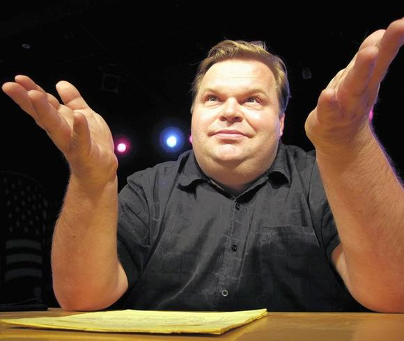 """Mike Daisey: American Utopias"" at the Museum of Contemporary Art Chicago."