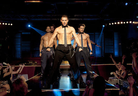 """Magic Mike,"" starring Channing Tatum, debuted at No. 2 on the DVD sales chart, behind ""Disney Fairies: Secret of the Wings."""