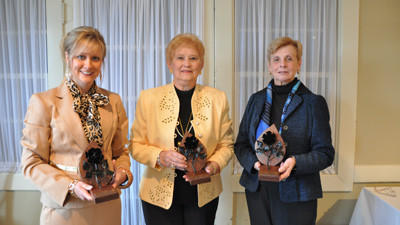 The 2012 Salute to Women Luncheon honorees are Michele Beener, Hazel Hillegas and Penelope Stahl.