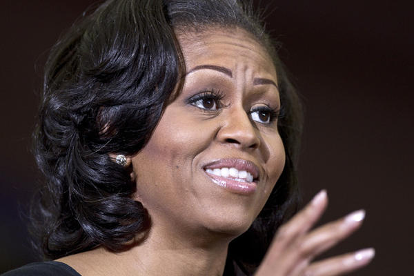 First Lady Michelle Obama held a campaign rally at Holland Hall this afternoon on the Hampton University campus with HU student and people from around the area attending.