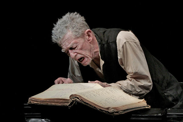 "Two-time Oscar nominee John Hurt performs ""Krapp's Last Tape"" by Samuel Beckett at the Kirk Douglas Theatre in Culver City, Calif.<br><a href=""http://www.latimes.com/entertainment/arts/culture/la-et-cm-john-hurt-20121016,0,617519.story""><b>More:</b> John Hurt plays back 'interrupted pause' of 'Krapp's Last Tape'</a> 