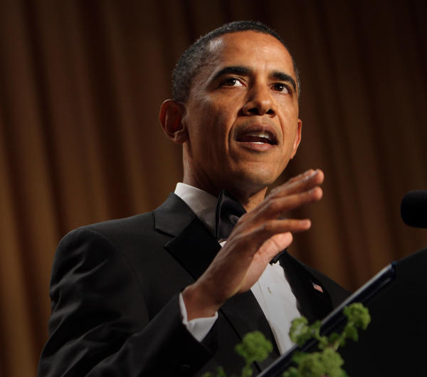 "President Obama at 2011 White House Correspondents Dinner - a moment featured in ""Seal Team Six"" docudrama Sunday on the National Geographic Channel."