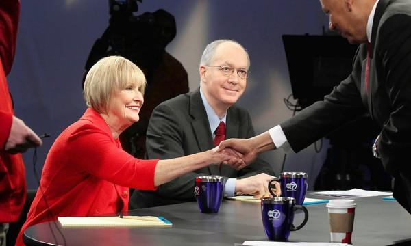 In the new 11th Congressional District, voters have the chance to weigh the voting records of a sitting Republican congresswoman, Rep. Judy Biggert, and a former Democratic congressman, Bill Foster, shown before a recent debate.