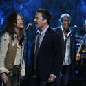 Steven Tyler, Jimmy Fallon, Mark Rivera and Bruce Springsteen