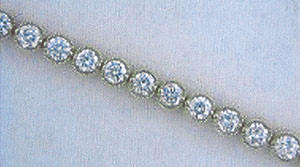 A man stole this item from Riddle's Jewelry in Lakewood Mall on Thursday in Aberdeen. The women's tennis bracelet is worth $30,500.