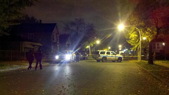 Scene of homicide in 5600 block of South Shields
