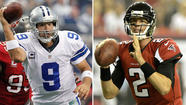 The Dallas Cowboys play at Atlanta on Sunday in a game featuring a question-mark quarterback. Yes, he's shown flashes of excellence, but is he truly the player who can lift his franchise to greatness? Does success early in the season mean anything if he hasn't gotten the job done in the biggest games?