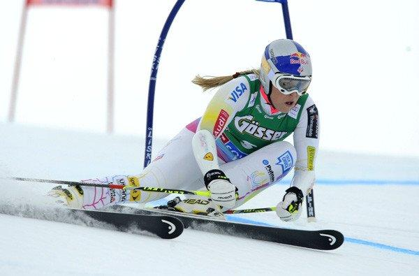 Lindsey Vonn competes in a World Cup giant slalom race last week in Austria.