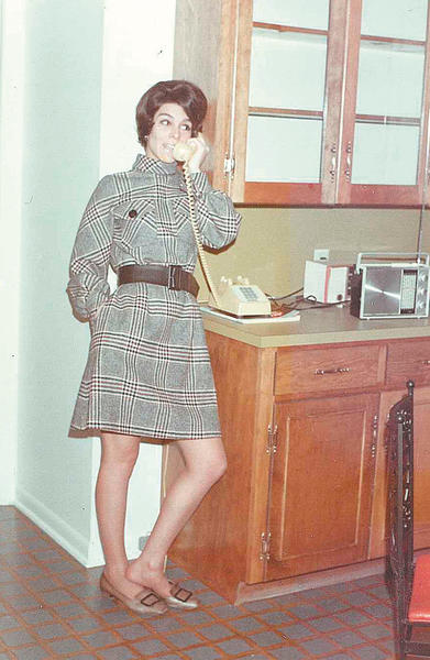 Maggie Hetzer wore the latest style well in this picture taken in April 1969.