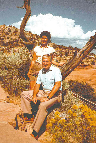 Maggie and Bill Hetzer pose at a scenic spot on a trip to Utah in this 1984 photo.