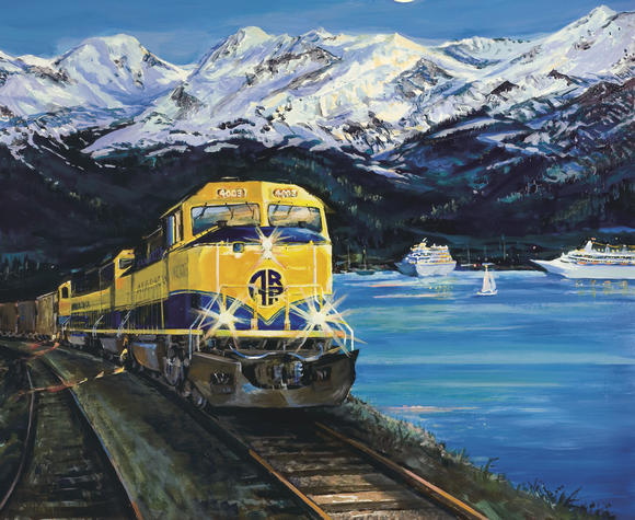 The 2013 Alaska Railroad Print by Susan Watkins