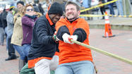 "It came down to the final round of the world's longest tug-of-war over water, but the city of Annapolis delivered Saturday on its vow to save face against rival Eastport and win the annual match billed as the ""Slaughter Across the Water."""