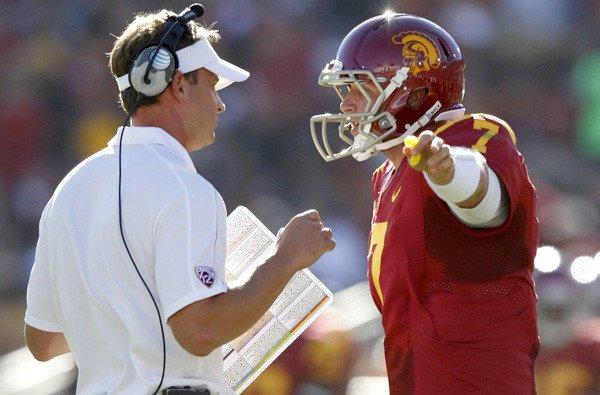 Coach Lane Kiffin and quarterback Matt Barkley have another controversy surrounding their USC football team.