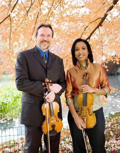 Violinists Mark O'Connor and Kelly Hall-Tompkins perform with the Allentown Symphony Orchestra in an Americana concert on Nov. 10-11.
