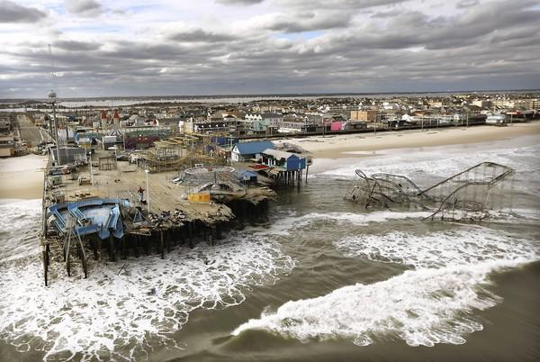 A Seaside Heights, N.J., amusement park lies in ruins in the aftermath of super storm Sandy.