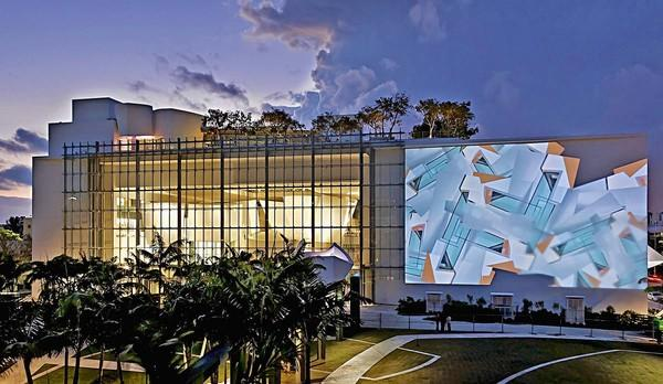 Miami Beach, Florida: Frank Gehry designed the New World Symphony's performance hall, which features a massive projection wall on the exterior.