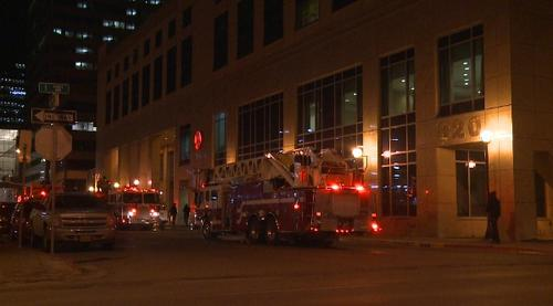 Smoke causes evacuation of Marriott downtown.