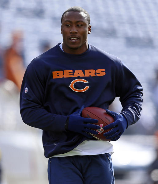 Chicago Bears wide receiver Brandon Marshall (15) during pre-game warmups before facing the Tennessee Titans at LP Field in Nashville, Tenn. on Sunday.