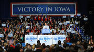 Romney hopes to win in Iowa, the state that launched Obama