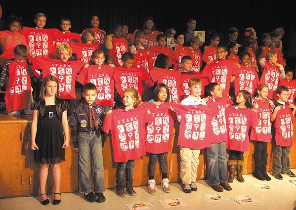 Fountaindale Elementary School held its first STARS award ceremony of the school year. Bottom row, standing: Paige Ludwig, Jacob Williams, Madison Mattos, Cecilia Fritz, Zachary Brooks, Santana Rojas, Feiyan Collins, Ashley Foulks and Ethan Eberhart. Second row, kneeling, Kenneth Nehring, Kyle Byard, Rileigh Fink, Royce Naylor, Waylin Bonds, Charlie Jardiner, Legacy Brown, Naija Prather-Armstrong, Rena Kapulka and Ali Zia. Third, row, Audrey Miller, Alexa Snyder, Kiyare Keyes, Kylee Cross, Ariel Langlotz, Logan Chaney, Jacob Jardiner, Sira Villaman, Daniela Cifentes, Kelly Bokoum and Nicholas Profilio. Top row, Aiden Thomas, Brettly Horst, Ruby Williams, Erianna Schleigh, Kaylee Newman, Maddie Boese, Ian Selby, Hunter Maddock, Eliza Durham and Alex Gregory. Not pictured: Hailey Wainwright, Lynique Gordon, Alyssa Checkeye, Makiya Harris and Trenisha Roberson.