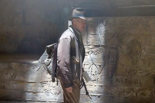 "<b>The moment:</b> We expect a certain level of ridiculousness in our "" <a class=""taxInlineTagLink"" id=""PEFCC000002"" title=""Indiana Jones (fictional character)"" href=""/topic/entertainment/movies/indiana-jones-%28fictional-character%29-PEFCC000002.topic"">Indiana Jones</a>"" movies. In all honesty, that's part of their charm. The film's biggest spoiler – that there'd be aliens – was leaked early, so we thought we had plenty of time to prepare. We were wrong. The end of this movie turned the most recent ""Indiana Jones"" installment from a senseless romp into a pure puzzler. Minds are melded, people explode and a super-fancy spaceship suddenly emerges from the ruins. Where does it go? The ""space between spaces."" Is that where our money went?"