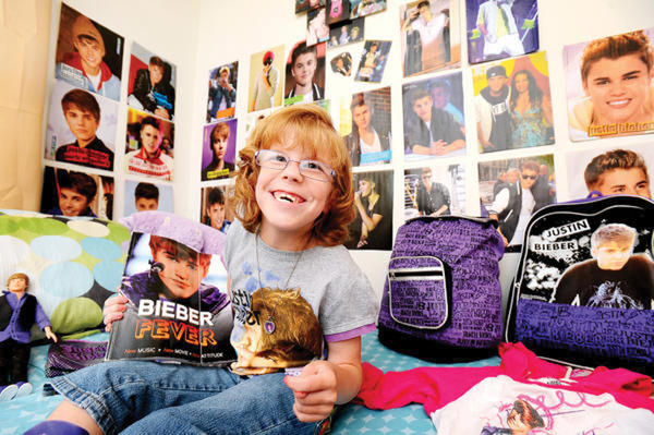 Kaden Anders, 8, who has cerebral palsy, is a big Justin Bieber fan. She will be attending Bieber's concert at the Verizon Center in Washington, D.C., with a front row seat.