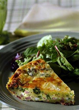 Asparagus and ham frittata