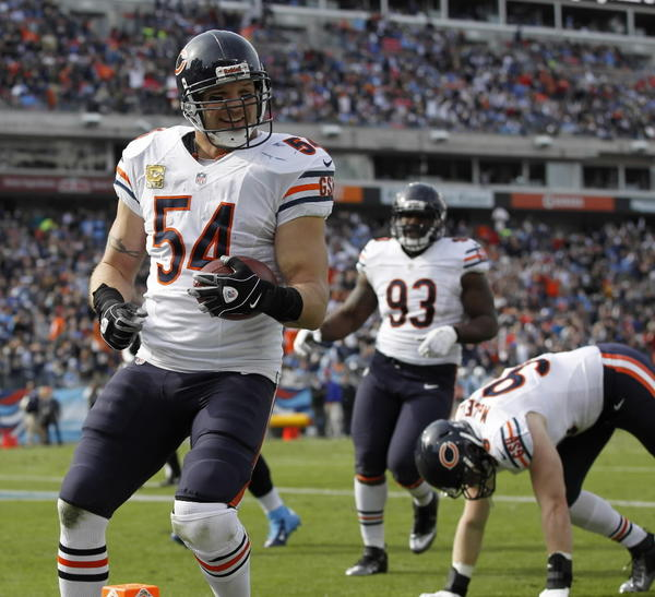 What can make the sometimes-surly Brian Urlacher smile like this? How about his interception return for a TD? Or the Bears waxing the Titans and looking like Super Bowl contenders? Take your pick. RECORD: 7-1