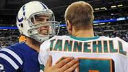 The game was down to one throw now, one last chance for Ryan Tannehill to make more magic, and on the other sideline the rookie holding a towel put his new town's fear to words.