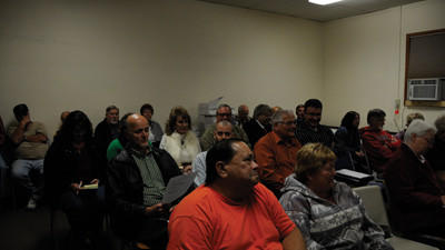 The Meyersdale Area Watch Group and other community members gathered at the October Meyersdale Borough Council meeting.