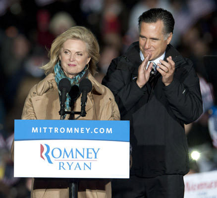 Republican Presidential hopeful Mitt Romney holds a rally in Yardley on Sunday.