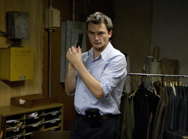 Rupert Friend as Peter Quinn in Homeland (Season 2, Episode 6).