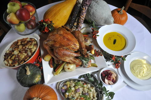"Cavey's, 45 E. Center St., Manchester, will serve Thanksgiving dinner from 1 to 6 p.m. The three-course, fixed-price menu is $38 for adults and $20 for children. Entrees featured turkey, with salmon or filet of beef available for an additional charge. Information: 860-643-2751 and <a href=""http://caveysrestaurant.com/""> caveysrestaurant.com</a>"