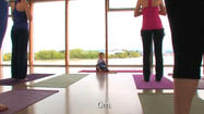 2-year-old yoga instructor