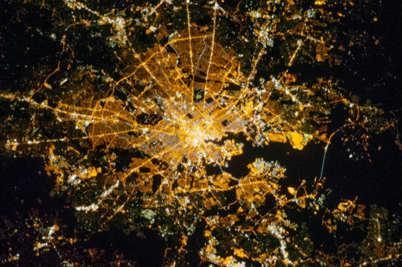 Baltimore, seen from space