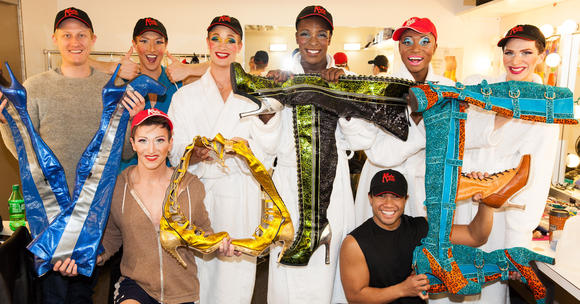 "Vote, says the cast of ""Kinky Boots,"" bound for Broadway from Chicago's Bank of America Theatr"