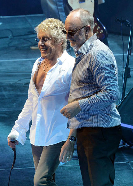 "The Who's Roger Daltrey and Pete Townshend perform during The Who ""Quadrophenia And More"" World Tour Opening Night at BB&T Center on November 1, 2012 in Sunrise, Florida."