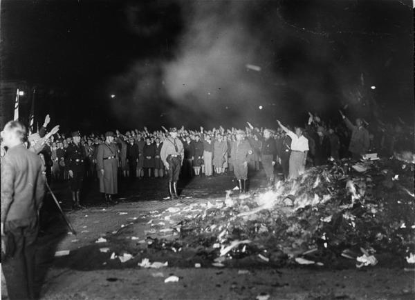 "In 1933, university students in Nazi Germany burned thousands of books by the likes of Helen Keller and Ernest Hemingway as a means of ""cleansing"" the ""un-German"" spirit from German culture. The Nazi's early suppression provoked an immediate reaction from the United States, as will be shown in ""Banned and Burned: Literary Censorship and the Loss of Freedom,"" opening tonight and running through Jan. 6 at West Palm Beach's Mandel Public Library, 411 Clematis St. The show's artifacts address the book burnings and its influence on postwar media (Ray Bradbury's dystopian ""Fahrenheit 451,"" TV series ""The Waltons,"" for example). Delray Beach Holocaust survivor Jim Bachner leads off with a 5:30-7:30 p.m. discussion titled ""Freadom."" Opening night free with RSVP. 561-868-7715 or WpbLibraryFound.org."
