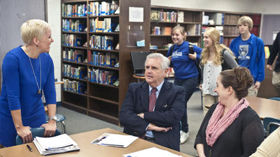 Education official visits Danville