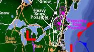Nor'easter forecasts place rain/snow boundary across Md.