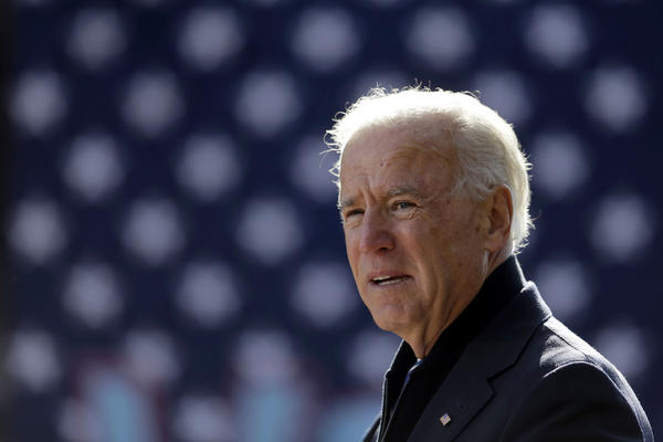 Vice President Joe Biden speaks during a campaign rally at Heritage Farm Museum at Claude Moore Park in Sterling, Va.