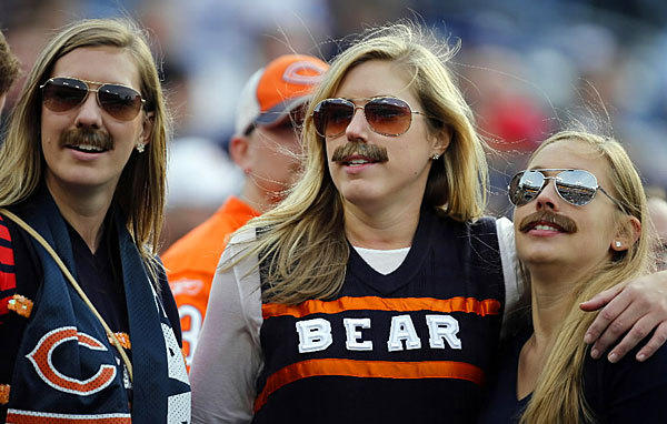 Chicago Bears fans go retro with their best Mike Ditka (circa 1986) impression during a game against the Tennessee Titans on Nov. 4.